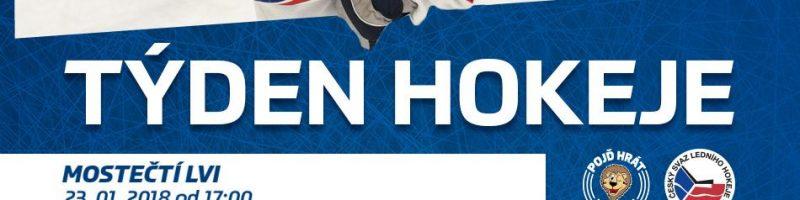 23. 1. 2018 Týden hokeje