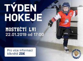 22. 1. 2019 Týden hokeje